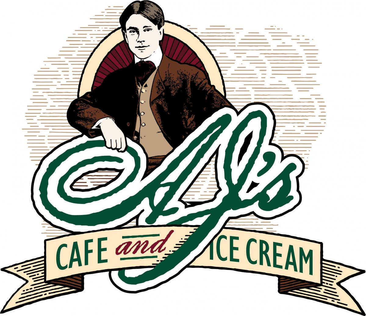 AJ's Cafe and Ice Cream Logo