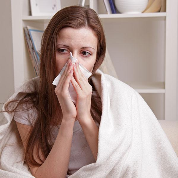 Image of woman with flu