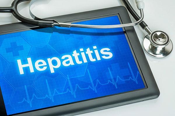 Hepatitis A image - Ipad & stethoscope