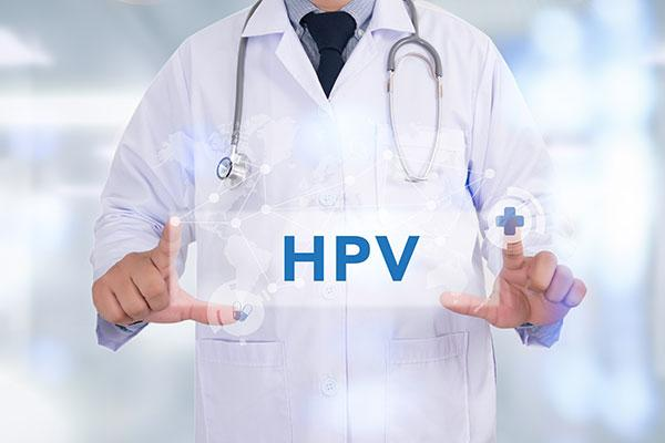 HPV Image - Doctor holding sign