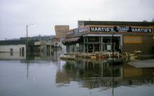 1st & Locust street - Flood of 1965