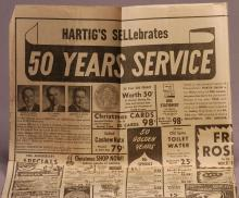 50 years of service newspaper